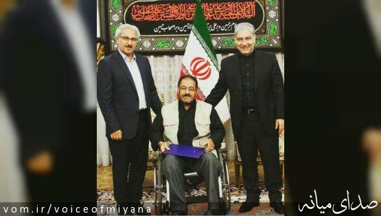 تجلیل جبارزاده و مدیرکل ورزش استان از تنها مدال آور استان در پارالمپیک ریو