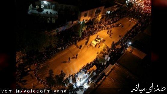 تصاویر مراسم عزاداری حسینی در خیابان های شهر میانه/بخش دوم
