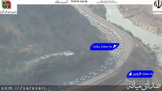 ترافيك سنگین آزادراه قزوین-رشت در تاسوعای حسینی