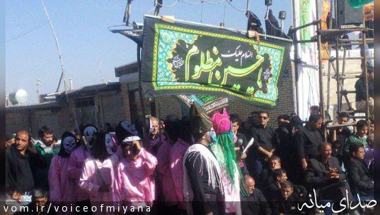 تصاویر مراسم شبیه خوانی و نماز ظهر عاشورا در شیخدرآباد