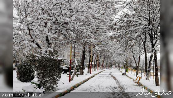 برف و سرما اردبیل را فرا گرفت/ کاهش ۱۴ درجهای دمای هوا