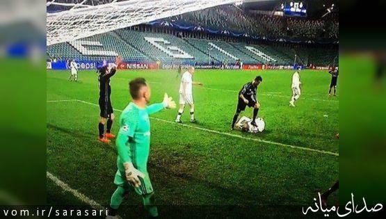 تصویری از حرکت زشت رونالدو در لیگ قهرمانان