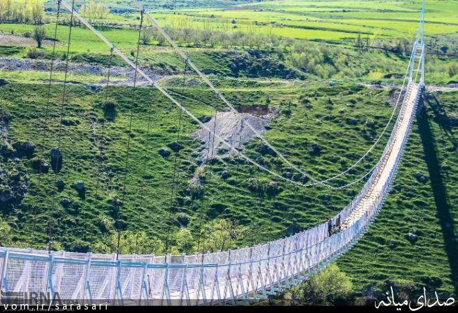 معرفی پل معلق مشکین شهر به عنوان بلندترین پل خاورمیانه