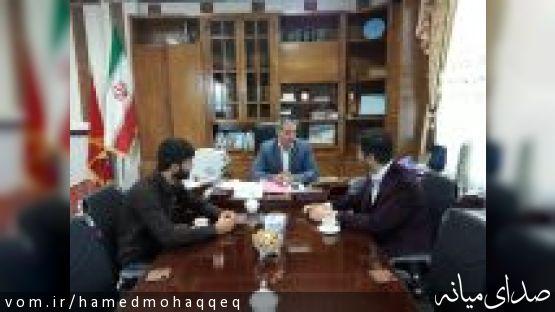 دیدار فرماندار میانه با اعضای انجمناسلامی دانشجویان دانشکدهی فنیمهندسی میانه