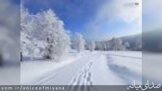 بیشترین بارش برف استان در شهرستان میانه