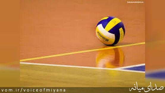 والیبالیست های نوجوان  میانه ای در تیم منتخب آذربایجان شرقی