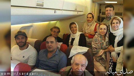 بازیگران زن و مرد در راه تبریز+تصویر