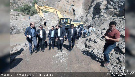 بازدید وزیر راه و شهرسازی از پروژه احداث راهآهن اردبیل ؛بررسی روند اجرایی ساخت پل آرپاچای
