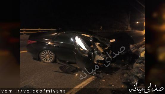 شش کشته و مصدوم در دو حادثه رانندگی محور میانه -تبریز /تکمیلی ؛فوت دکتر سمیرا اکبری