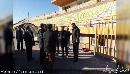 فرماندارویژه میانه از روند اصلاح نواقص ورزشگاه شهید سرانجام بازدید کرد