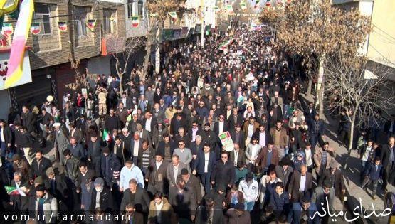 حضور گسترده و حماسی مردم ولایتمدار و انقلابی شهرستان میانه در راهپیمایی 22 بهمن