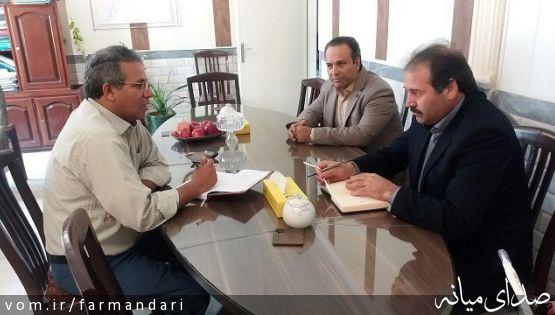 جلسه بررسی مشکلات آب و فاضلاب شهری میانه برگزار شد