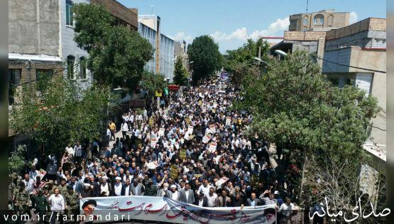 مردم میانه در روز قدس، فریاد حمایت از مظلومین فلسطین را سر دادند