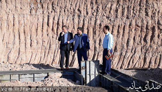 سرپرست فرمانداری ویژه میانه از پروژه ها و طرح های در حال اجرای شهرداری بازدید کرد