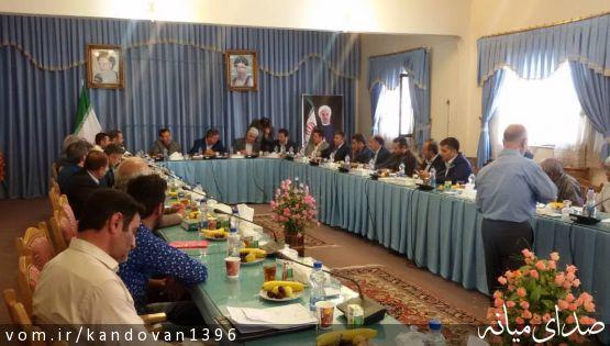 حضور بخشدار کندوان در شهرستان نیر برای حل اختلاف مراتع لیوانلو و دوشانلو/ بازدید از راه میانه نیر