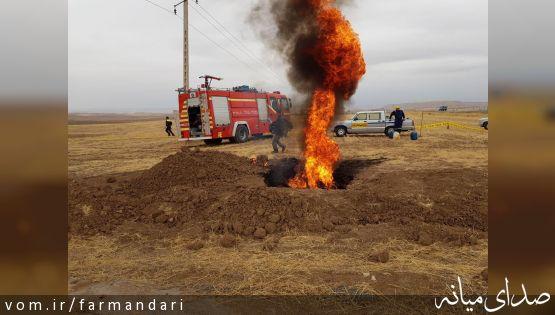 مانور زلزله و آتش سوزی در اثر شکستگی لوله گاز در شهرستان میانه برگزار شد