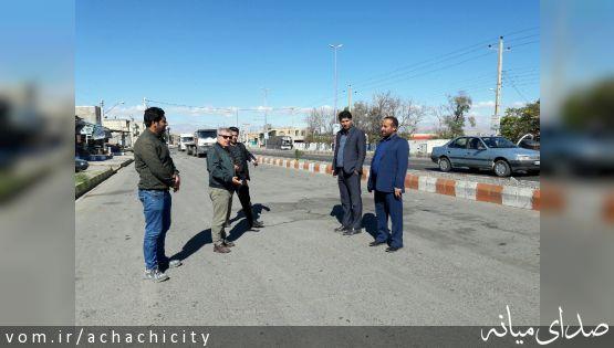 بازدید میدانی اعضای شورای اسلامی شهر آچاچی از پروژه های در دست اقدام شهرداری آچاچی