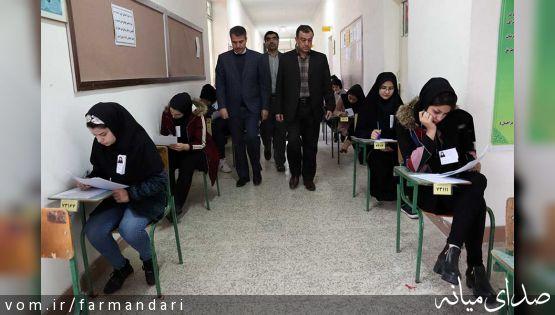 امتحانات نهایی دانش آموزان در میانه برگزار شد
