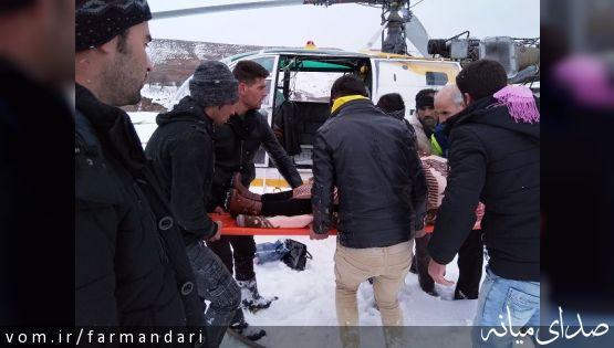 مادری باردار از بخش کندوان میانه با اورژانس هوایی به بیمارستان انتقال داده شد