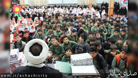 برگزاری مراسم نهضت قرآنی و زمینه سازی ظهور امام زمان در شهر آچاچی+تصاویر