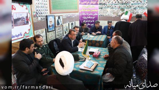 میز خدمت مدیران ادارات شهرستان میانه در مسجد جامع برپا شد