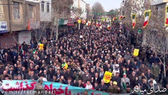 تصاویری از حضور باشکوه مردم میانه در راهپیمایی 22 بهمن 97