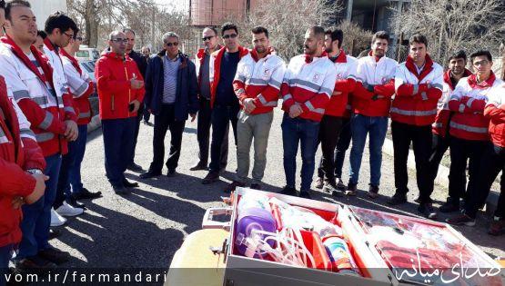 آمادگی امدادگران جمعیت هلال احمر شهرستان میانه برای امدادرسانی در طرح نوروزی