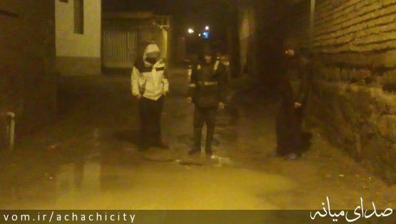 آماده باش شبانه مدیریت بحران شهرداری آچاچی در هوای بارانی بهمن ماه