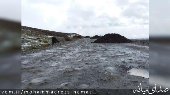 شن ریزی مسیر روستای نودوزق به روستای کزرج
