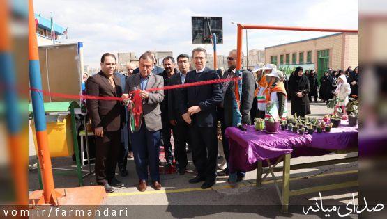 با حضور فرماندار ویژه میانه، بازارچه کار و فناوری دانش آموزی افتتاح شد