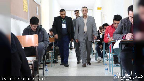 فرماندار ویژه میانه از محل برگزاری ششمین آزمون مشترک فراگیر دستگاههای اجرایی کشور در این شهرستان بازدید کرد