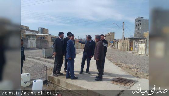 بازدید مدیر کل دفتر امور شهری و شوراهای استانداری آذربایجان شرقی از شهر آچاچی