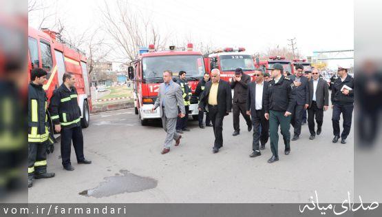 گزارش تصویری/رژه خودرویی نیروهای امدادی و خدماتی شهرستان میانه در آستانه نوروز 98
