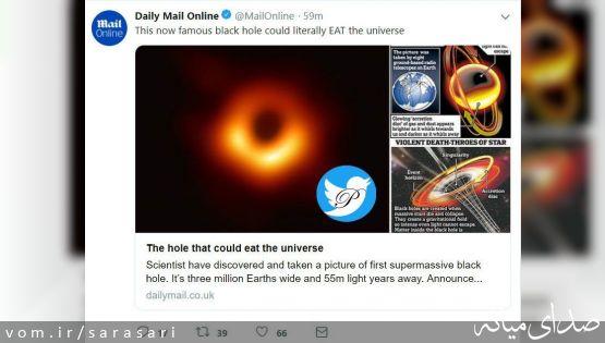 سیاه چالهای که میتواند عالم را قورت دهد +تصویر