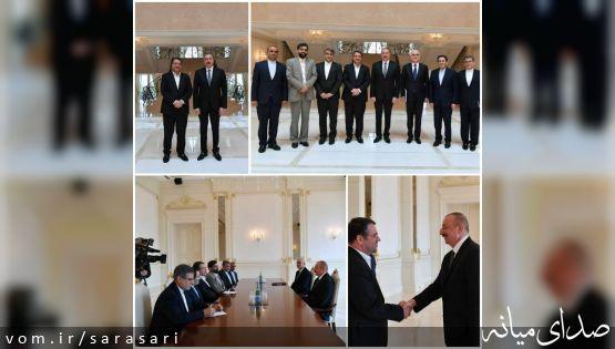 دیدار رسمی وزیر صنعت و رئیس جمهوری آذربایجان در باکو