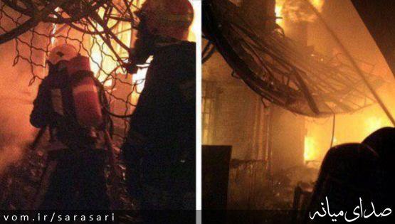 آتش سوزی در بازار تاریخی تبریز