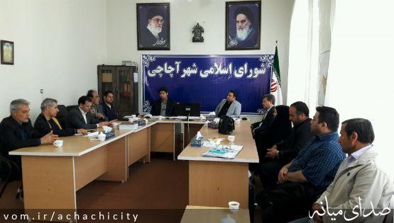 جلسه بررسی مسائل و مشکلات شهر آچاچی با محوریت ورزش این شهر  برگزار شد