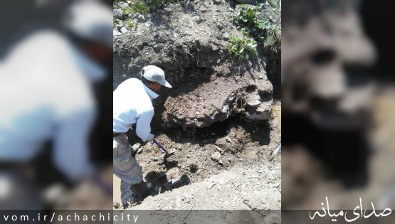 # ادامه عملیات عمرانی بازسازی و تعمیر سیستم آبرسانی آب شرب(شیرین) شهر آچاچی