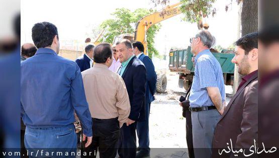 با حضور فرماندار ویژه میانه، عملیات اجرایی توسعه کتابخانه پیامبر رحمت آغاز شد