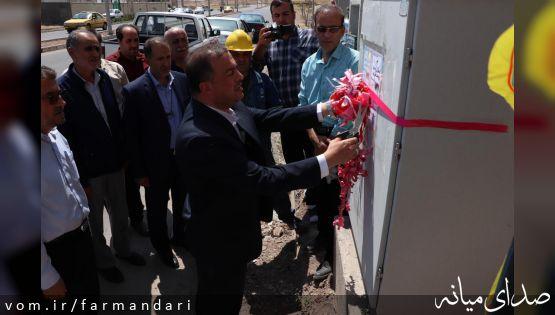 در آغازین روز از هفته دولت، 9 پروژه عمرانی، خدماتی در شهر میانه افتتاح شد