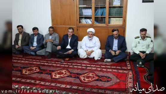 همزمان با آغازین روز از هفته دولت، اعضای شورای اداری با امام جمعه میانه دیدار کردند