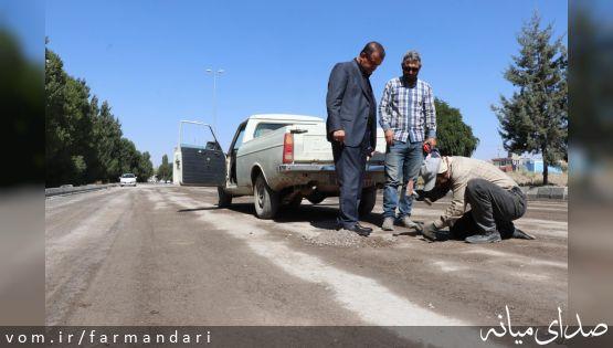 بازدید فرماندار ویژه میانه از روند ساماندهی ورودیهای شهر میانه