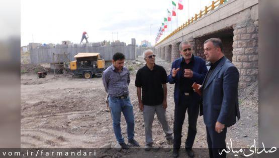 فرماندار ویژه میانه از روند اجرایی چند پروژه عمرانی در حال اجرای این شهرستان بازدید کرد