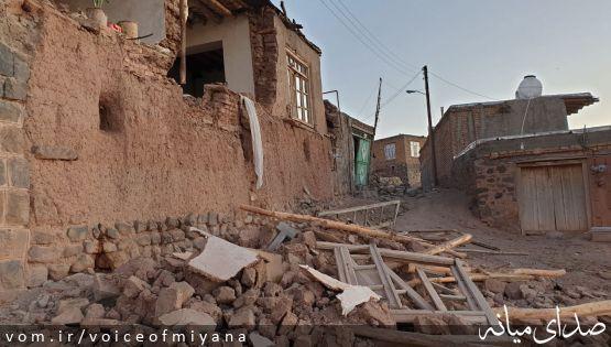 تصاویر ویرانی های زلزله ۶ ریشتری در ورنکش شهرستان میانه