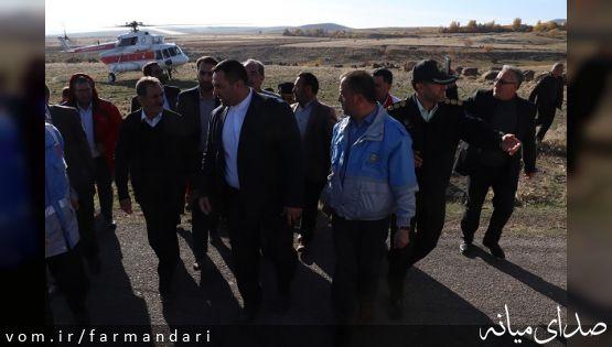 معاون اول رییس جمهور از بخش زلزله زده میانه بازدید کرد