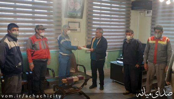 تقدیر از زحمات کارگران خدمات شهر شهرداری آچاچی، به مناسبت روز جهانی کار و کارگر