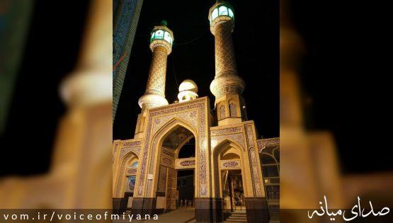 شب قدر غریبانه در امامزاده اسماعیل (ع) میانه +تصاویر