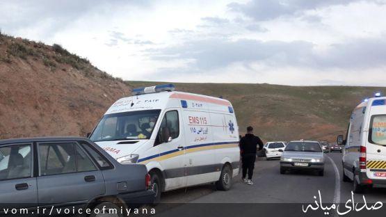 گزارش تصادفات جاده ای میانه/ محور میانه-ترک روزهای پرحادثه ای را سپری می کند