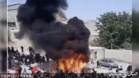 سوختن ۴ نفر در حادثه هولناک آتش سوزی در روستای تاوا در مراسم عاشورا
