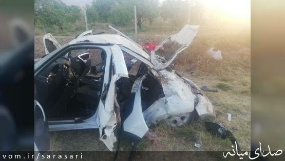 یک کشته و ۴ مصدوم بر اثر تصادف خودرویی با الاغ